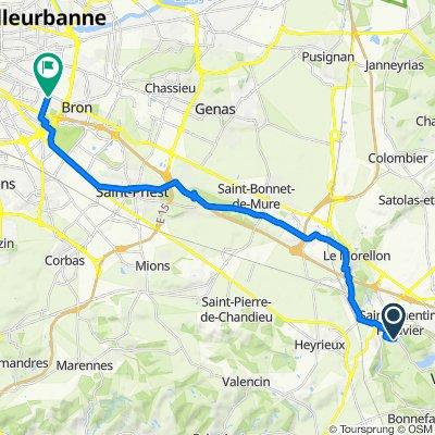 De 22 Montée de la Lieuse, Saint-Quentin-Fallavier à 127–129 Boulevard Pinel, Bron