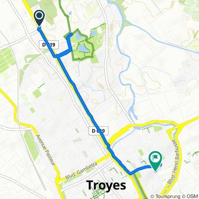 De 142–204Ter Avenue Chomedey de Maisonneuve, La Chapelle-Saint-Luc à 4 Rue de Jaillard, Troyes