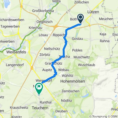 Teichstraße 26A, Lützen nach Weg nach Nessa 1–7, Teuchern