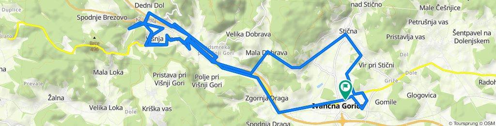 Route to Ljubljanska cesta 42