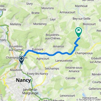 Itinéraire à partir de 3 Rue Auguste Chery, Malzéville