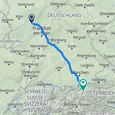 Route nach Sportplatzweg