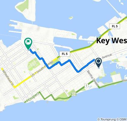 1546 Fourth St, Key West to 1017 Fleming St, Key West