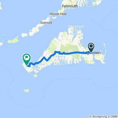 Edgartown to Aquinnah - 40 miles RT
