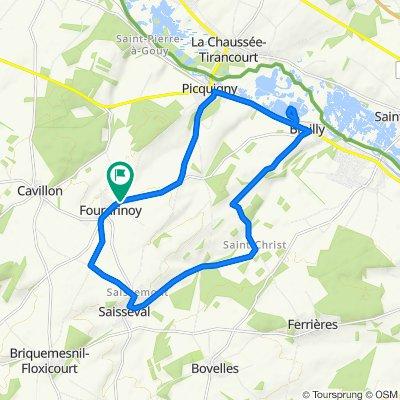 De Chemin de Picquigny 6, Fourdrinoy à Chemin de Picquigny 6, Fourdrinoy