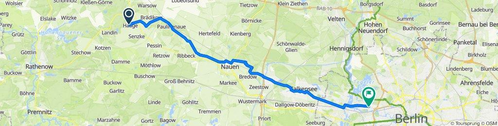 Birkenstraße 13, Mühlenberge nach Nonnendammallee 89–92, Berlin