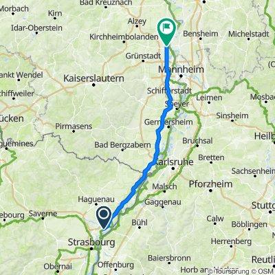 6 Route Nationale, Kilstett nach Bahnhofstraße 11, Worms