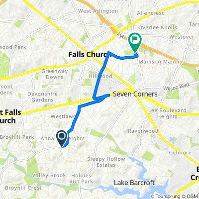 3227 Annandale Rd, Falls Church to 1718–1760 N Sycamore St, Arlington