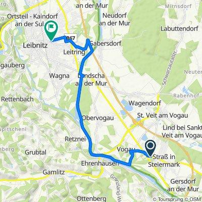 Hauptstraße 14a, Straß in Steiermark nach Oberleitringer Straße 7, Wagna
