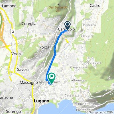 Da Piazza Colombaro 2, Canobbio a Via Monte Brè 10, Lugano