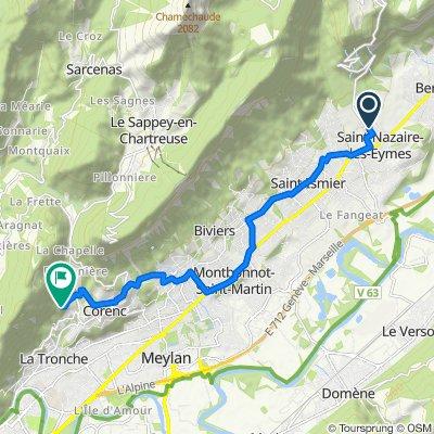 De 444 Route de Saint-Pancrasse, Saint-Nazaire-les-Eymes à 33 Chemin de Chantemerle, La Tronche
