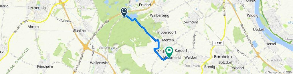 Am Birkhof, Brühl nach Effelsbergstraße 21, Bornheim