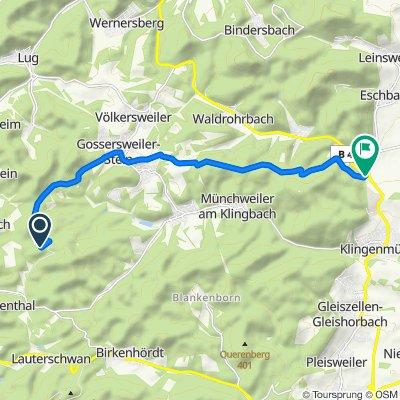 Lindelbrunn 13, Vorderweidenthal nach Kaiserbacher Mühle 1a, Göcklingen