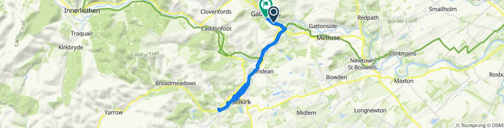gala to selkirk and back