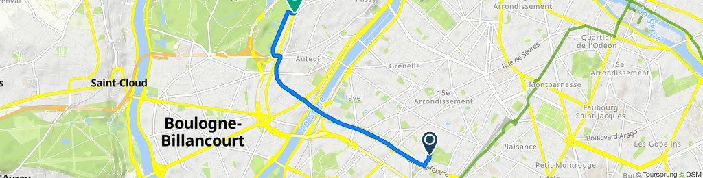 De 43 Rue de Dantzig, Paris à 64 Boulevard Suchet, Paris