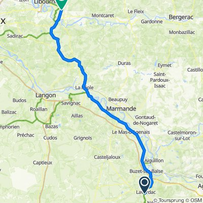 De D408, Lavardac à 6 Simard, Saint-Émilion