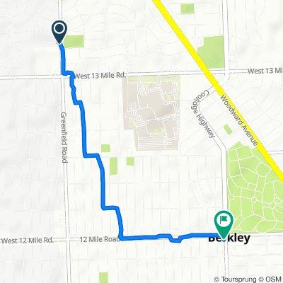 105 Charrington Ct, Beverly Hills to 3347 Coolidge Hwy, Berkley