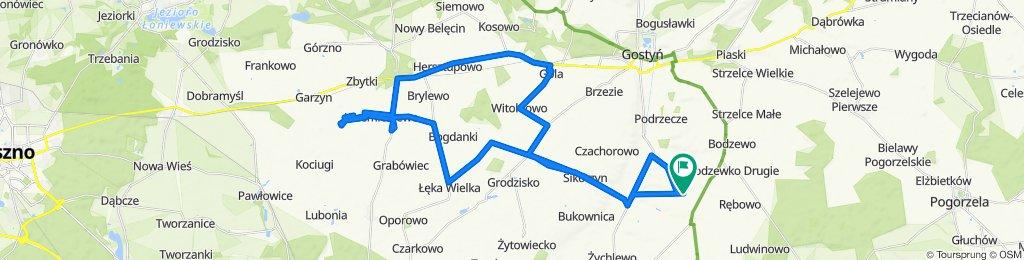 Ziółkowo -Sikorzyn-Łęka Wielka-Krzemieniewo-Drobnin-Krzemieniewo-Gola-Czajkowo-Sikorzyn-Krajewice