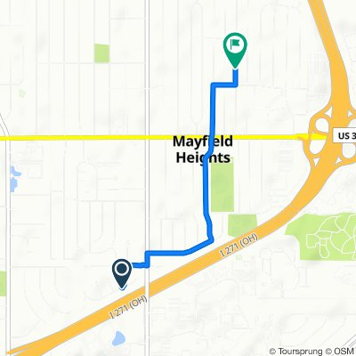 5942 Cantwell Dr, Mayfield Heights to 1303 Worton Blvd, Mayfield Heights