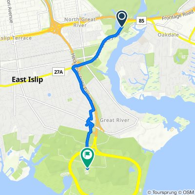 Montauk Hwy, Great River to Heckscher Office Rd, Great River