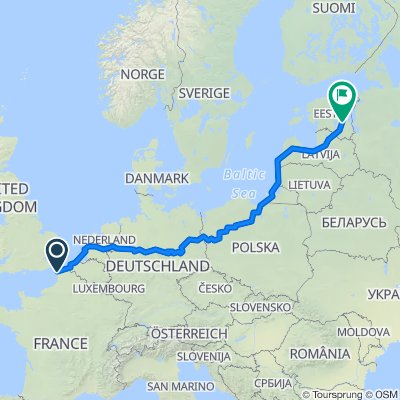 Europa-Radweg R1 GPS-Track