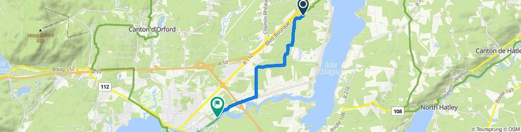 De Rue Villeneuve 351, Sherbrooke à Rue Saint-Patrice Est 1525, Magog