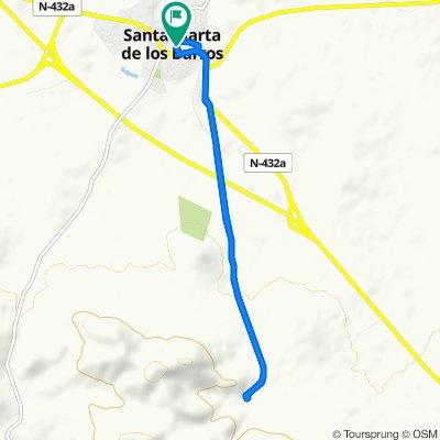 De Calle Badajoz 2, Santa Marta a Calle Luis Chamizo 10, Santa Marta