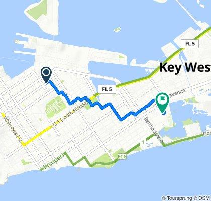 1016 Fleming St, Key West to 1546 Fourth St, Key West