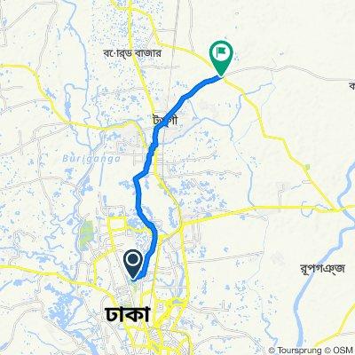 South Kafrul Road 455, Dhaka to Tongi - Kaliganj Highway 1721