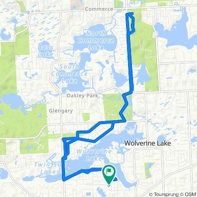 1470 West Dr, Wolverine Lake to 1470 West Dr, Wolverine Lake