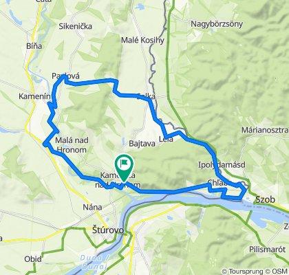 Kamenica-Pavlova-Salka-Chlaba 47km (area of Sturovo, Esztergom)