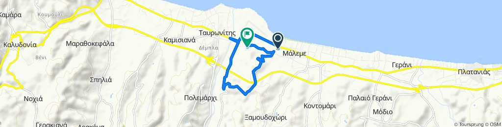 Route from Palaia Ethniki Odos Chanion-Kissamou, Maleme