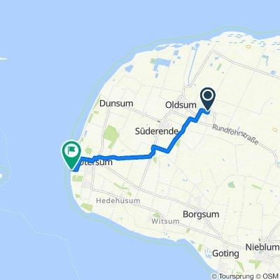 Route von Toftum 228, Oldsum