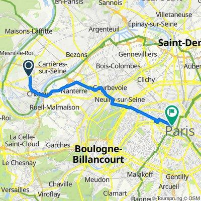 De 13ter Avenue Aristide Briand, Montesson à 154 Rue de Rivoli, Paris