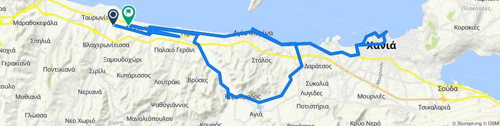 Route to Palaia Ethniki Odos Chanion-Kissamou, Maleme