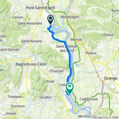 De 3599 Chemin de Beauchamp, Pont-Saint-Esprit à D238, Caderousse