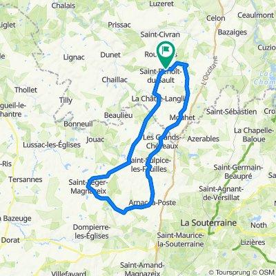 De 64 Route d'Argenton, Saint-Benoît-du-Sault à 66 Route d'Argenton, Saint-Benoît-du-Sault