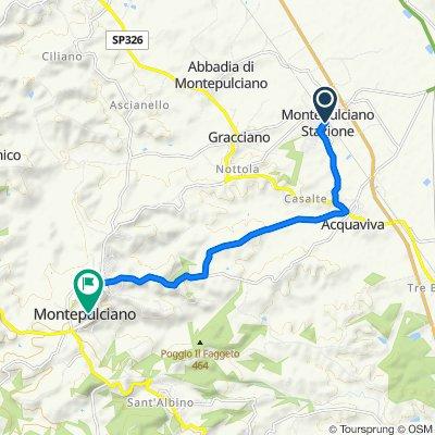 Da Via Firenze 3, Montepulciano Stazione a Vicolo degli Orti 2, Montepulciano