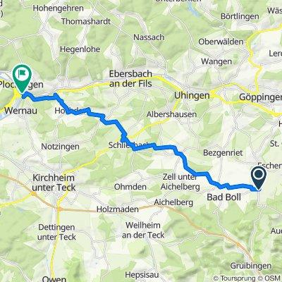 Eschenbacher Straße 12, Gammelshausen nach Filsweg 56, Plochingen