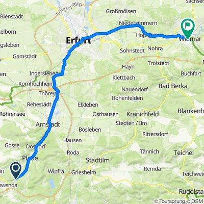 Geschwendaer Straße 14, Angelroda nach Heinrich-Heine-Straße 22, Weimar