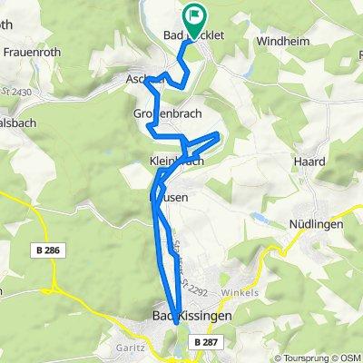 Durch das Tal der Fränkischen Saale nach Bad Kissingen
