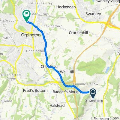 37 High Street, Sevenoaks to 80 Poverest Road, Orpington