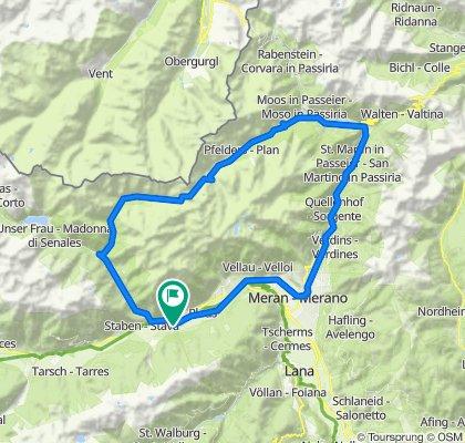 MTB-Tour zur Stettiner Hütte am Eisjöchl und über Meran