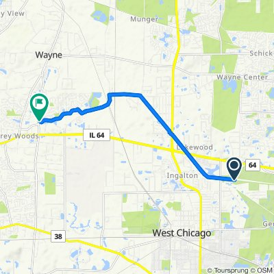 Route to 723 Stuarts Dr, St. Charles