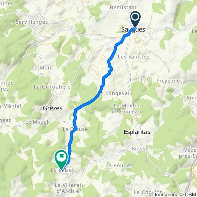 Via Podiensis: Saugues - La Falzet