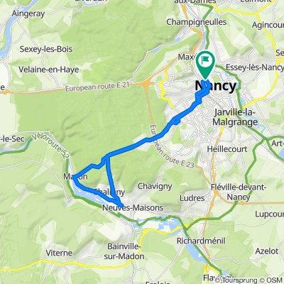 De Place de Luxembourg, Nancy à 45–47 Cours Léopold, Nancy