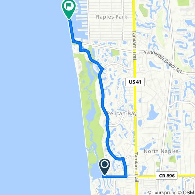 465 Seagate Dr, Naples to 9891 Gulf Shore Dr, Naples