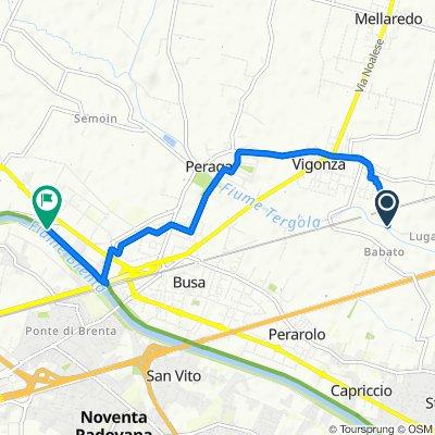 Da Via Luganega 19, Vigonza a Via Manara 1, Case Trevisan