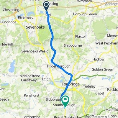 28 Robinwood Dr, Sevenoaks to 3 Yew Tree Road, Tunbridge Wells