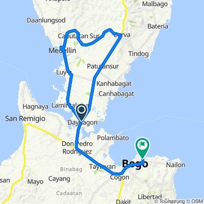 Route from Bogo-Curva-Medellin-Daanbantayan-Maya Road, Medellin